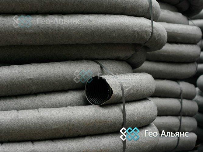 Дренажные трубы с геотекстилем - надежная защита дренажной системы загородного участка